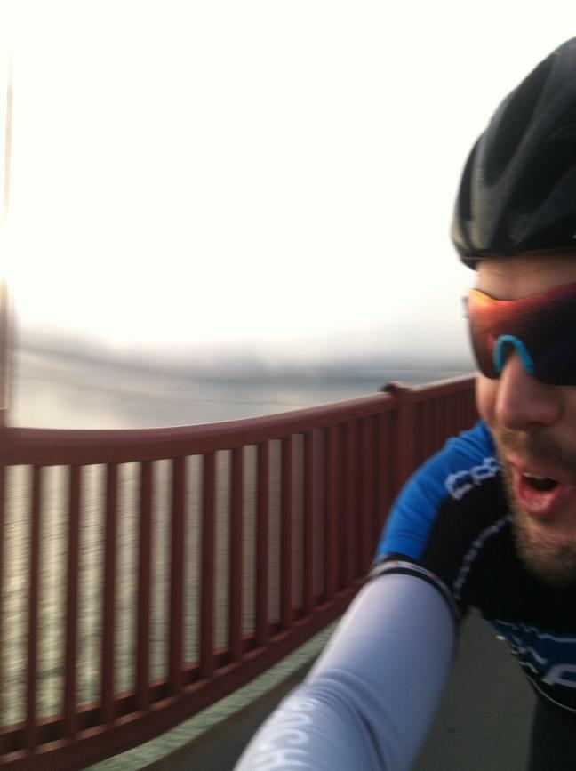 Early morning GGB crossing, aboard my road bike.